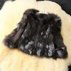 Vintage Real Fox Fur Suave AU Short Luxury Coat Long Sleeve Fur Stylish