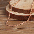 "2mmW 18K Rose Gold Necklace Women's & Men Rope Chain Link 16-24""L"