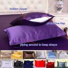 1pc 30 Momme 100% Pure Silk Pillow Cases Cushion Covers Zipper Close Face Beauty