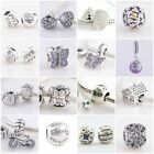 Authentic Solid 925 Sterling Silver Charms D fit European Bead Charm Bracelets