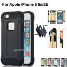 F Apple iPhone SE/ 5 5S Armor Shockproof Defender Hybrid Rubber Phone Case Cover