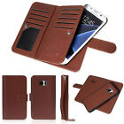 Luxury Leather 9 Credit Card Slot Flip Wallet Case for Samsung Galaxy S7/Edge