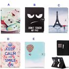 New Painting Cartoon Leather PU Folio Wallet Flip Case Cover W Stand For iPad