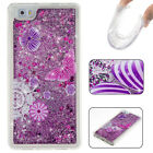 Bling Dynamic Liquid Quicksand Glitter Soft TPU Case Cover For Huawei Phones