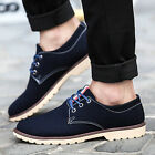 New Fashion Men Oxfords Casual Shoes Suede European Style Leather Shoes HQ