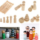 Blank Wooden People Peg Dolls Figures Wedding Cake Toppers DIY Craft Toys