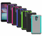 For ZTE Imperial Max Z963U Case Hybrid Dual Layer Armor Protective Phone Cover