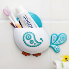 New Creative Bird Pattern Suction Cup Toothbrush Holder House Storage Tool JR