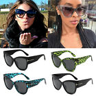 Cat Eye Sunglasses Ladies Women Retro Vintage Shades Oversized Designer Large AS