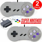 2 PCS Game Controller Gamepad Pad for Super Nintendo SNES 16 Bit System Console
