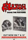 SAXON Rock The Nations PHOTO Print POSTER Battering Ram Shirt Wheels Of Steel 06