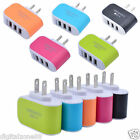 3.1A Triple USB 3 Port Wall Home Travel AC Charger Adapter For Samsung & LG DZ88