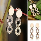Women 18K Gold Plated Crystal Necklace Earring Ring Wedding Jewelry Set New Sale