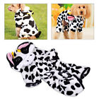 Pet Dog Cat Clothes Cow Costume Soft Jumpsuit Warm Hoodie Winter Puppy Coat