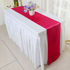 """12""""x108""""  Satin Table Runner Wedding Venue Decorations Wedding Party 8 Colors"""