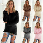 Women Long Sleeve Knitwear Casual Cardigan Jumper Sweater Winter  Pullover