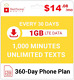 Red Pocket 360 Day Prepaid Wireless Phone Plan - No Contract, Renewal Only