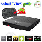 Lot 4K S912 Smart TV Box Octa Core Android 6.0 1G 8G Internet + Keyboard