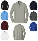 MEN'S EASY CARE, LIGHTWEIGHT, LONG SLEEVE, GOLF, POLO SHIRT, ANTI-PILL, XS-6XL
