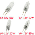 10 / 1 x G4 Halogen Capsule Lamps Light Bulbs 5W 10W or 20W 35Watt 12V 2 Pin