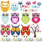 OWL Tree Border Wall Stickers Decor Movable Removable Decal Reusable Nursery New