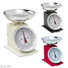 Hanson Kitchen Scales Traditional 500 Mechanical Weighing Baking Red Black Cream