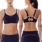 Women's No-Bounce Full-Support Racerback Pro High Impact Sports Bra