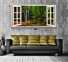 The Falls Window View Panoramic Trendy Canvas Print - Two Sizes Ready to Hang