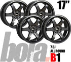 """17"""" BOLA B1 GUNMETAL 5 STUD 7.5J SET OF 4 NEW ALLOY WHEELS FOR Ford S-MAX 10-15"""