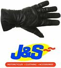 BKS CRUISER WP LEATHER MOTORCYCLE GLOVES WATERPROOF TOURING RETRO BLACK J&S