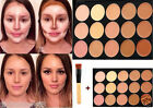 New 15 Colors Face Contour Cream Makeup Concealer Palette Kit With Brush/Sponge@