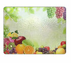 Fruit Glass Chopping Board Any Text Image Logo