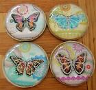 Butterfly Drawer Knobs Sparkly Glitter Cupboard Knob Handle Pull Girls Bedroom