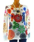 long sweater cotton bohemian printed hippie BLANC VALERIE WHITE