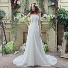 New White Crystals Wedding Dresses Bridal Gowns Chiffon Sleeveless Wedding Gowns