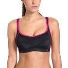 Women's Wirefree Side Open Side Support Extensible Mesh Sports Bra