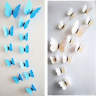 Lot 12pcs DIY 3D Butterfly Pvc Art Wall Sticker Decal Home Decor Kids Room Mural