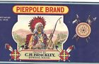 1920's STONE LITHO PIERPOLE INDIAN CHIEF APPLE CAN LABEL STRONG MAINE