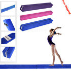 7FT/3.5FT Folding Balance Beam Gymnastics Gym Training Equipment Suede 3Colour