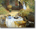 HUGE Monet The Luncheon Stretched Canvas Giclee Art Print Repro ALL SIZES
