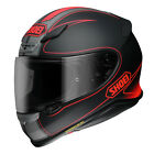 Shoei NXR ECE Helmet - Flagger TC-1 Red/Black Matte Motorcycle Street Road