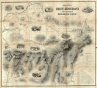 1859 Railway Map Of Routes To The White Mountains New Hampshire Wall Art Poster