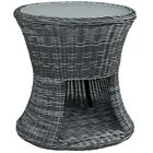 "Modway Furniture Summon Outdoor 25"" Patio Side Table, Gray - EEI-1991-GRY"