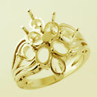 Semi Mount Oval Shape 4x6 MM Ring Solid Natural Gold F/s Setting Ladies Jewelry