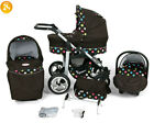 Baby Pram Stroller Pushchair CAR SEAT Carrycot Travel System Buggy SWIVEL WHEELS <br/> FORWARD&amp;REAR FACING MODE,Rain Cover,Mosquito Net &amp; More