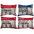 Football Club Match Day Tickets Plush Padded Filled Cushion Pillow Bedding Gift