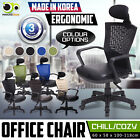 Ergonomic Office Chair Seat Adjustable Height Leather Mesh Back Korean Made