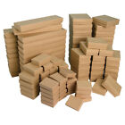 LOT of 20~50~100~500Pcs KRAFT JEWELRY BOXES KRAFT COTTON FILLED BOXES GIFT BOXES