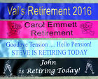 RETIREMENT or LEAVING JOB, WORK,  PERSONALISED SASH ~ FAST DESPATCH