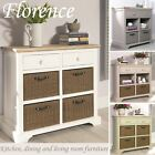 Florence Sideboard with drawers & 4 storage baskets.Stunning sideboard.ASSEMBLED